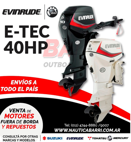 motor fuera de borda evinrude e-tec 40 hp  2 tiempos
