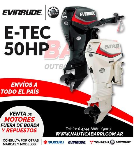 motor fuera de borda evinrude e-tec 50 hp  2 tiempos