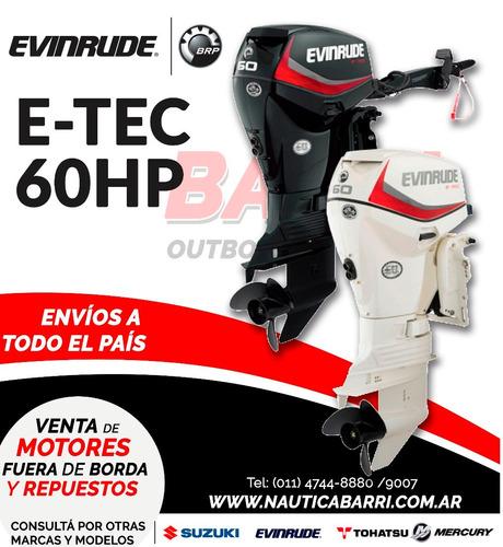 motor fuera de borda evinrude e-tec 60 hp  2 tiempos