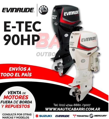 motor fuera de borda evinrude e-tec 90 hp  2 tiempos