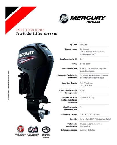 motor fuera de borda mercury 115 hp 4t ct