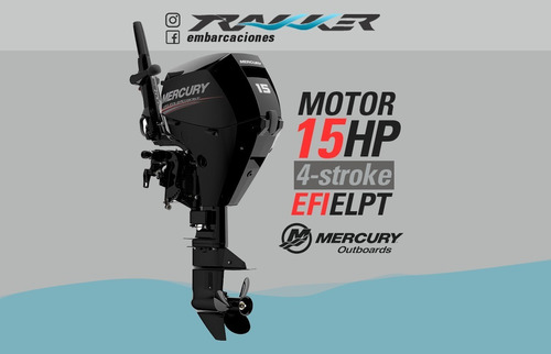motor fuera de borda mercury 15 hp 4 tiempos trakker