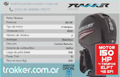 motor fuera de borda mercury 150 hp elpt 4 tiempos trakker