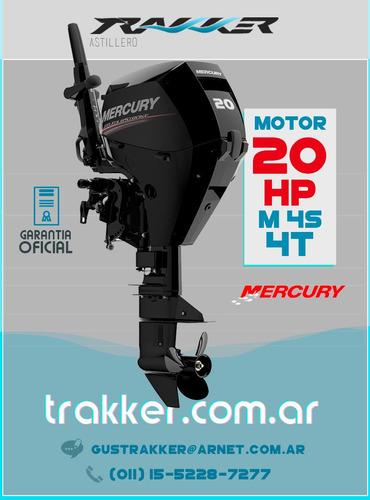 motor fuera de borda mercury 20 hp 4 tiempos trakker