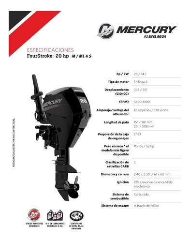motor fuera de borda mercury 20 hp 4t,