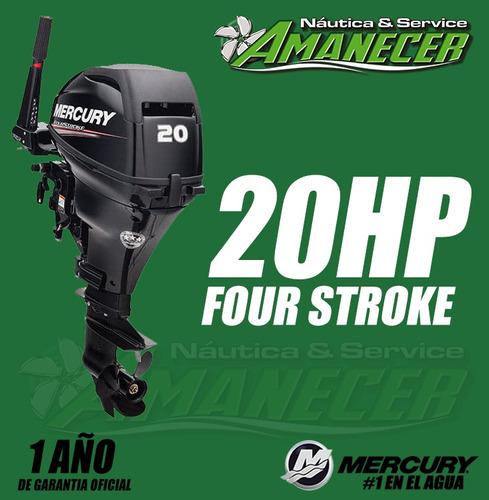 motor fuera de borda mercury 20 hp 4t, corto dolar oficial!!