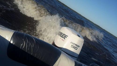 motor fuera de borda nautico evinrude e-tec 90 hp (nuevo)