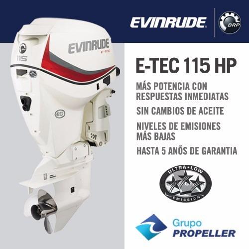 motor fuera de borda nautico evinrude etec 115 hp (nuevo)