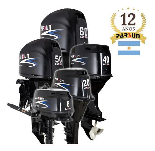 motor fuera de borda parsun 20 hp 4t arranqu eléctrico corto