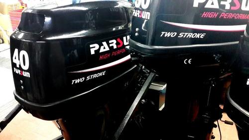 motor fuera de borda parsun  40hp eléctrico corto + comando