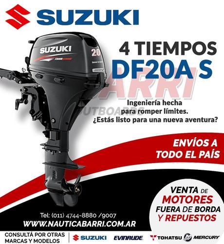 motor fuera de borda suzuki 20 hp 4 tiempos