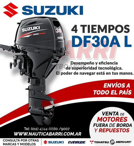 motor fuera de borda suzuki 30 hp 4 tiempos