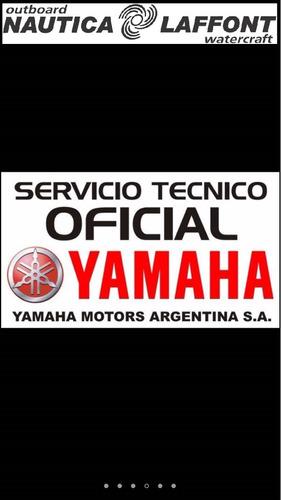 motor fuera de borda yamaha 15hp, 2t, bicilindrico, c/ caña