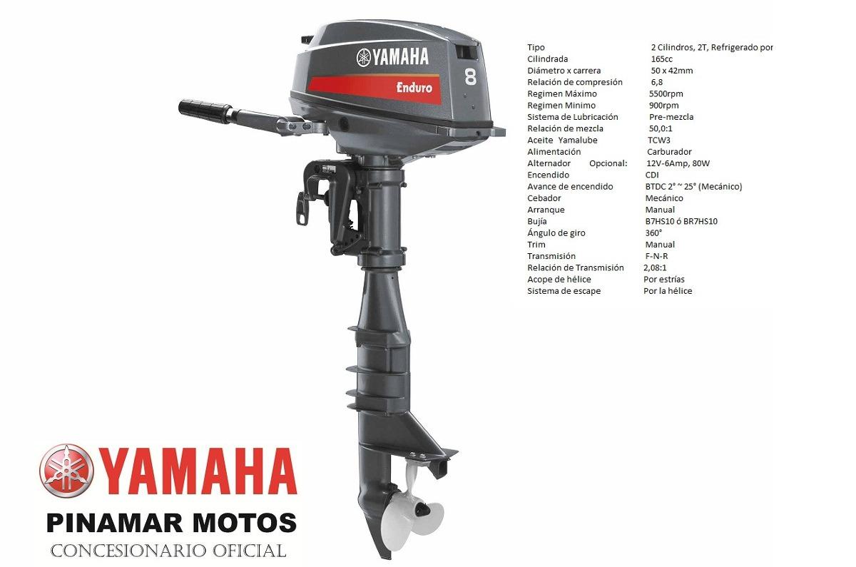 Motor fuera de borda yamaha 2t enduro e8dmhs 8 hp 54 for Fuera de borda yamaha