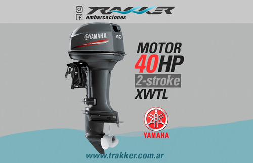 motor fuera de borda yamaha 40 hp 2 tiempos xwtl trakker