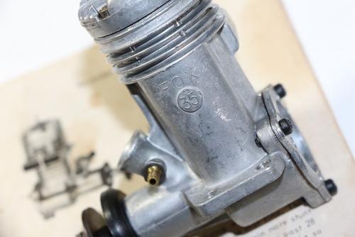 motor glow fox .35 stunt-  v c c - seminovo perfeito !
