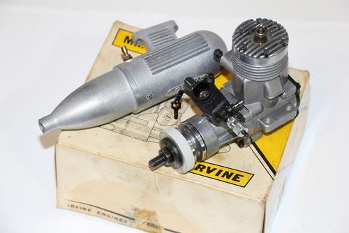 motor glow irvine .40  mk i i   - r / c -sport- seminovo.