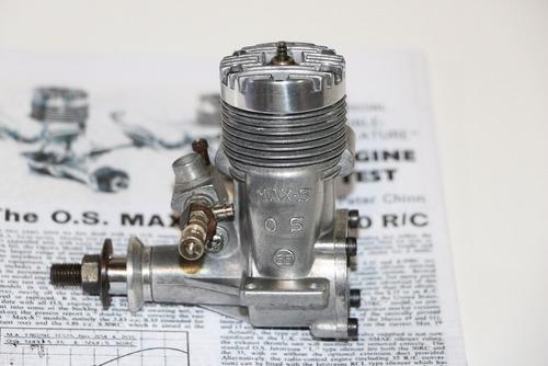 motor glow o. s. max .35 s -  r / c - mint - (quase novo)