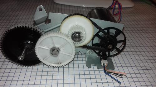 motor japones con reductor de engranes y banda,con encoder