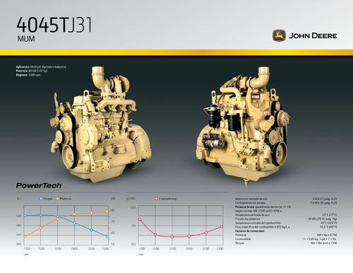 motor john deere uso vehícular industrial grupo electrogeno