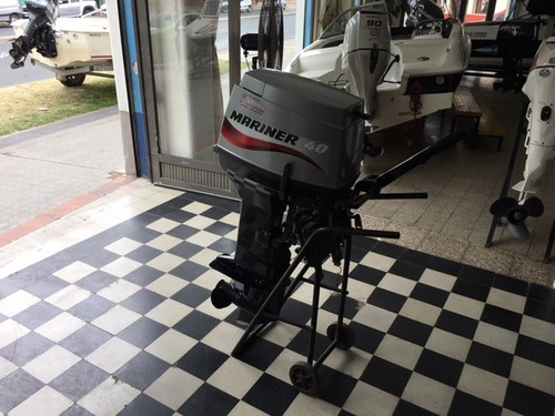 motor mariner 40 hp arranque manual pata larga