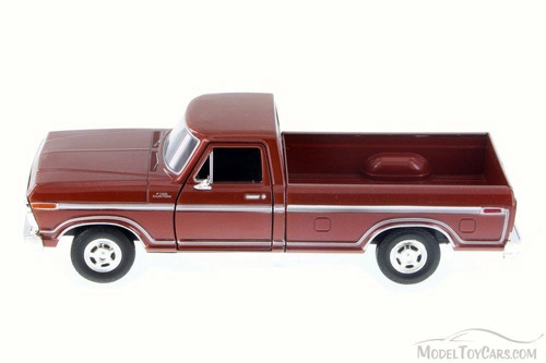 motor max 1:24 - 1979 ford f-150 custom camioneta marron