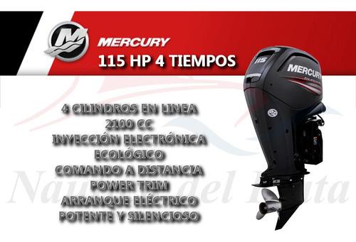 motor mercury 115 hp 4 tiempos  0 hs 2020 náutica del plata