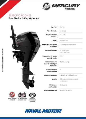 motor mercury 15 m 4s (4 tiempos)