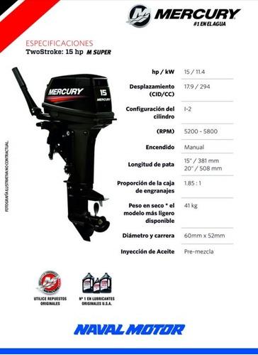 motor mercury 15 m super (2 tiempos)