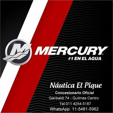 motor mercury 20 hp 4 t 0 km. se paga en pesos!!! quilmes!