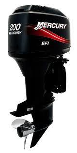 motor mercury 200 hp l 3.4 l efi v6 4 tempos poddium nautica