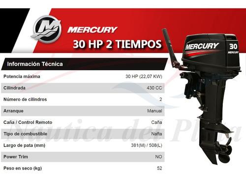 motor mercury 30 hp 2 tiempos  0 hs 2020 náutica del plata