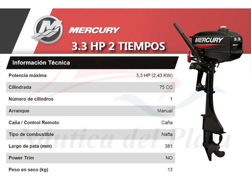 motor mercury 3.3 hp 2 tiempos  0 hs 2020 náutica del plata
