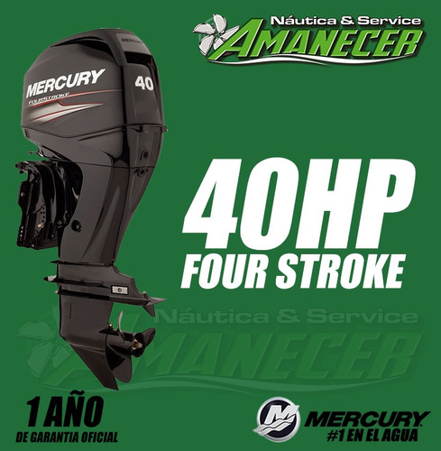 motor mercury 40 hp elpt 4t