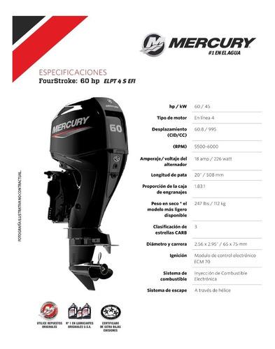 motor mercury 60 hp elpt efi 4t