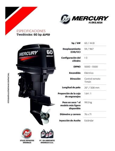 motor mercury 60 hp elpto 2t