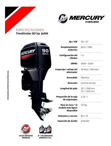 motor mercury 90 hp 2 tiempos elpto