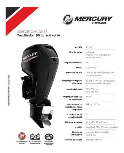 motor mercury 90 hp 4 tiempos - elpt efi