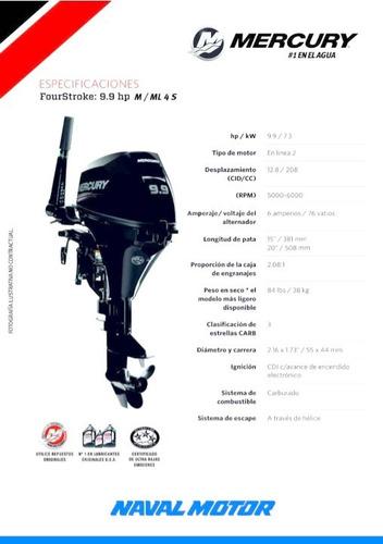 motor mercury 9.9 m 4s (4 tiempos)