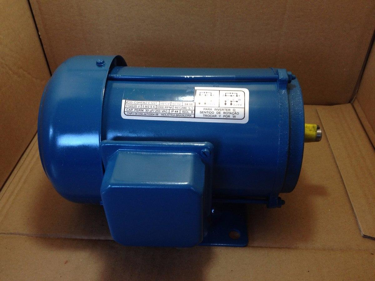 Motor Monofásico 1/2 Cv 3300 Rpm 110/220v - Voges-bsk63e1227