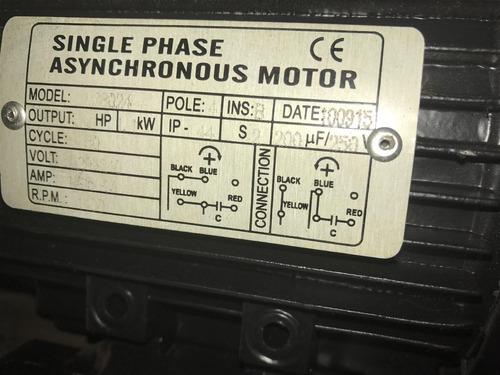 motor monofasico 1,5hp envío al interior por bus a terminal