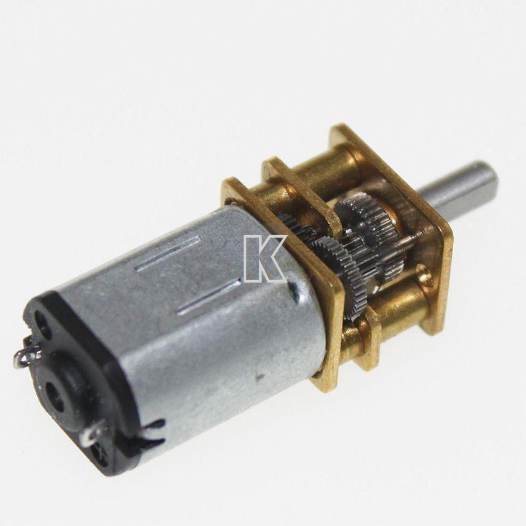 Motor n20 dc 3v 12v 120rpm caixa de redu o arduino for 120 rpm dc motor
