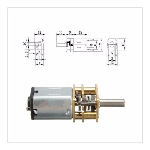 motor n20 dc caixa redução 6v 12v arduino robô automação