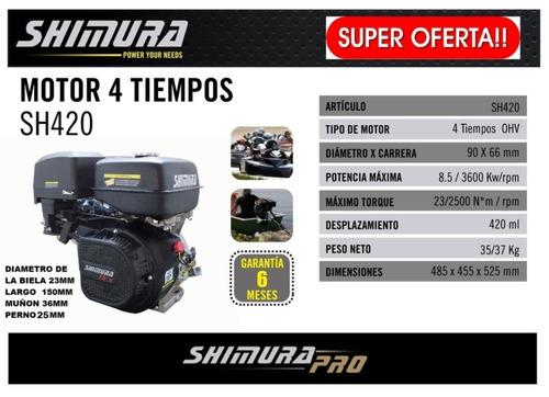 motor náutico equipo completo 15hp sh420 a. electrico