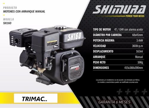 motor náutico equipo completo 5.5hp sh160 shimura oferta