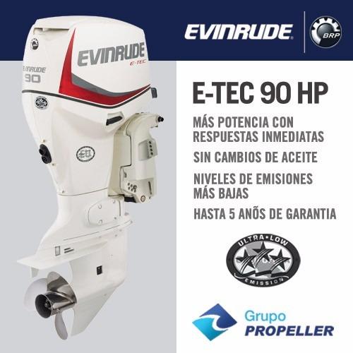 motor nautico fuera de borda evinrude e-tec 90 hp 0km 2018