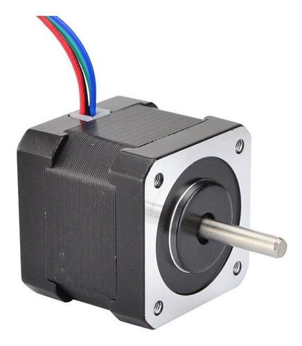 motor nema 17 cnc impresora 3d prusa i3 42x42 mm 0.9° 7,5v