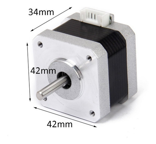 motor nema 17 paso a paso 3.45v 1.5a 1.8° impresora 3d prusa