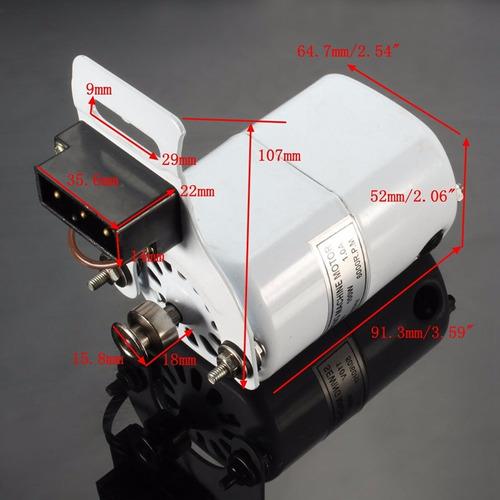motor p/ maquina costura doméstica singer elgin - preto