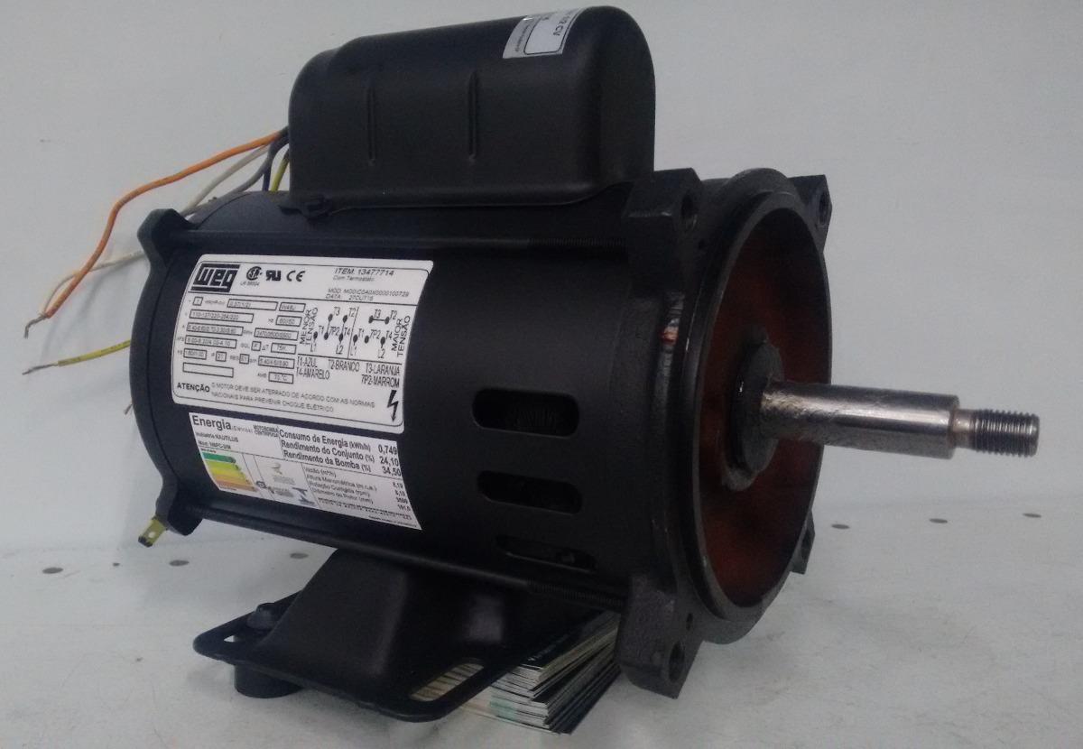 Motor para bomba igui 1 2 cv 110 220v weg r 632 00 em for Motor piscina